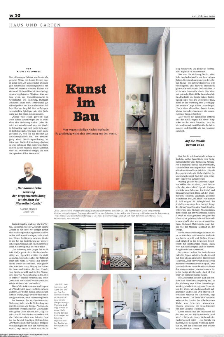 Projekt Wohnung Ainmiller Strasse, Stuttgarter Zeitung